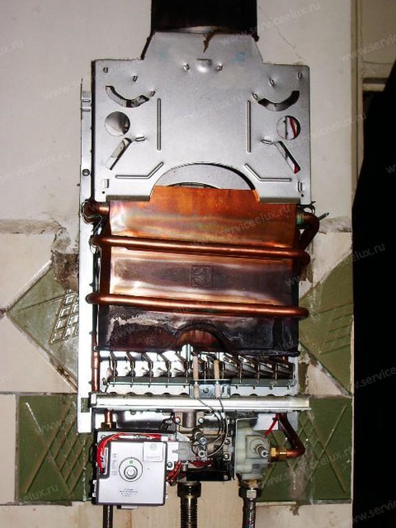 Газовая колонка ремонт кожуха теплообменника теплообменник фирмы apv